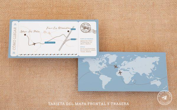 invitaciones de boda billete de avion, invitaciones viajeras