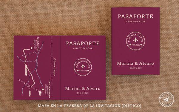 invitaciones de boda pasaporte, invitaciones viajeras