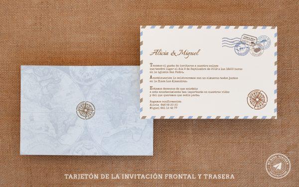 invitaciones de boda viajeras tarjeton, invitaciones viajeras, invitaciones de boda postal