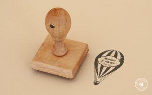 sello de boda viajes, sellos de boda, sellos de caucho boda, sello de boda globo aerostatico