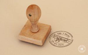 sello de boda viajes, sellos de boda, sellos de caucho boda, sello de boda avion